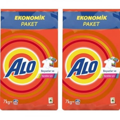 Alo Toz Çamaşır Deterjanı Beyazlar ve Renkliler İçin 7 kg x 2 Adet