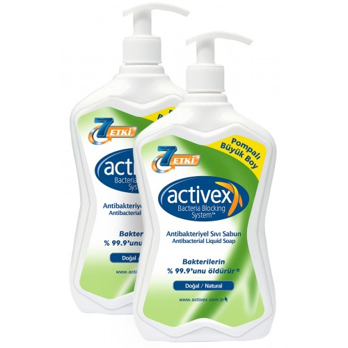 Antibakteriyel Sıvı Sabun 2li set Doğal 2 x 700 ml