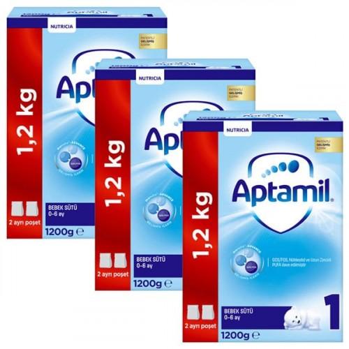 Aptamil 1 Bebek Sütü Yeni Formül 1200 gr x 3 Adet