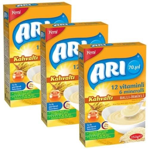 Arı Mama Sütlü Ballı İrmikli (Kahvaltı) Pirinç Unu 250 gr x 3 Adet