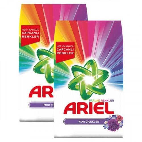 Ariel Toz Çamaşır Deterjanı Mor Çiçekler 6 kg x 2 Adet