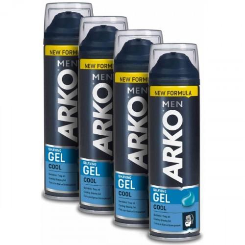 Arko 4'lü Cool Tıraş Jeli 4 x 200 ml