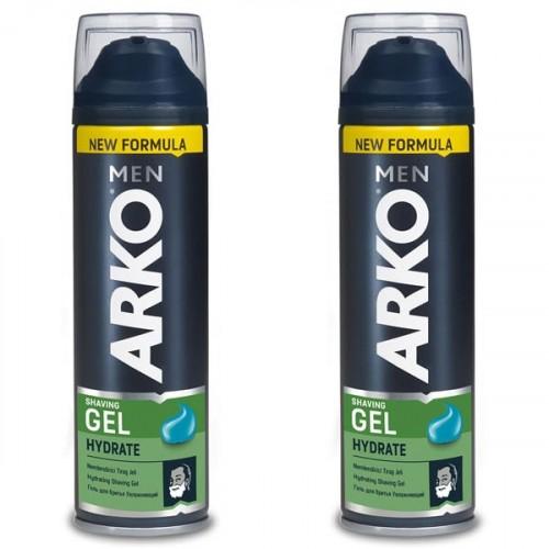 Arko Men Tıraş Jeli Hydrate 200 ml x 2 Adet