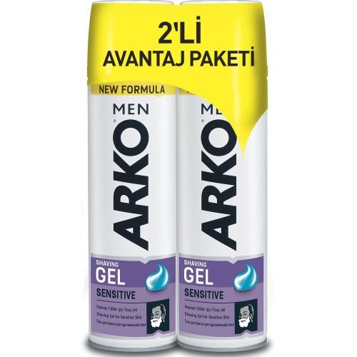 Arko Men Tıraş Jeli Sensitive 200 ml x 2 Adet