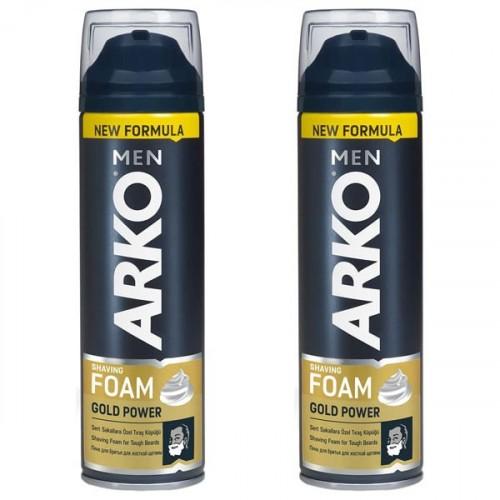 Arko Men Tıraş Köpüğü Gold Power 200 ml x 2 Adet