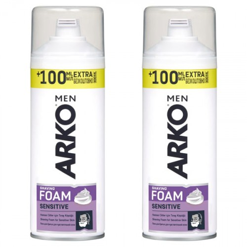 Arko Men Tıraş Köpüğü Sensitive 300 ml x 2 Adet