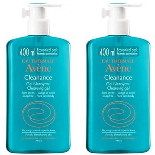 Avene Cleanance Nettoyant Yüz ve Vücut Temizleme Jeli 400 ml x 2 Adet