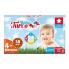 Baby Turco Bebek Bezi 4+ Beden Maxi Plus 38 li