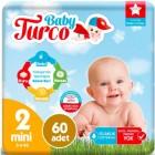 Baby Turco Bebek Bezi 2 Beden Mini 60 lı