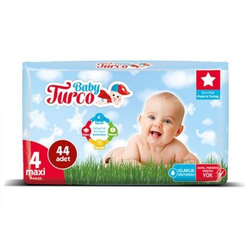 Baby Turco Bebek Bezi 4 Beden Maxi 44 lü
