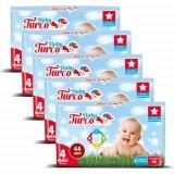 Baby Turco Bebek Bezi 4 Beden Maxi 44 lu x 5 Adet