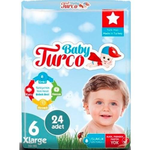Baby Turco Bebek Bezi 6 Beden XL 24 lü