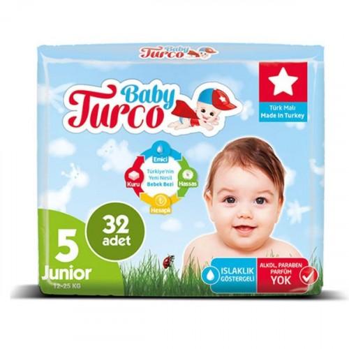 Baby Turco Bebek Bezi Junior 5 Beden 32 li