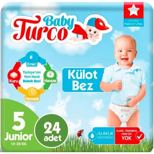Baby Turco Külot Bebek Bezi Junior 5 No 24 lü