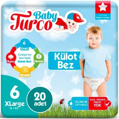 Baby Turco Külot Bebek Bezi XL 6 No 20 li