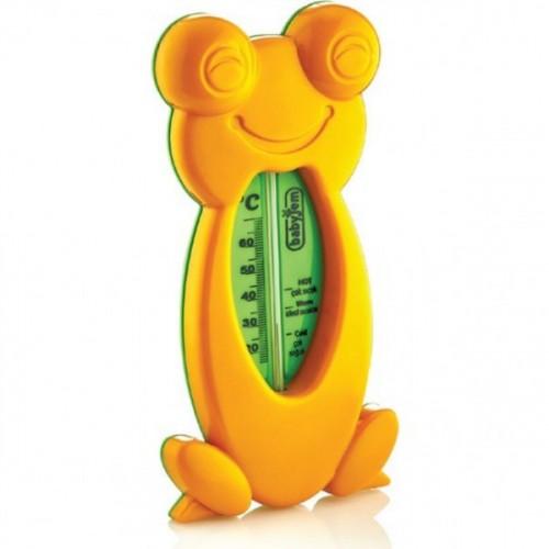 Babyjem Kurbağa Banyo & Oda Termometresi Turuncu