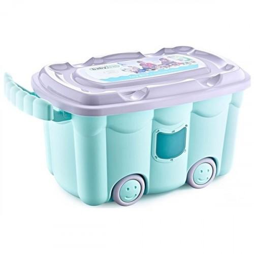 Babyjem Tekerlekli Oyuncak Kutusu Yeşil