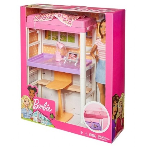 Barbie Bebek ve Oda Setleri Çalışma Masası FXG52