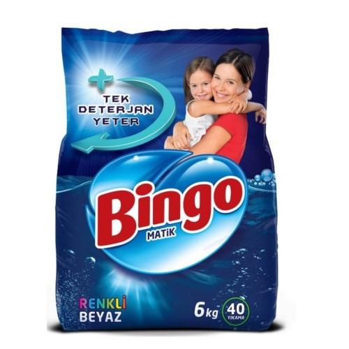 Bingo Matik Toz Çamaşır Deterjanı Renkli - Beyaz 6 kg