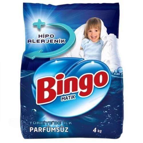 Bingo Matik Toz Çamaşır Deterjanı Parfümsüz 4 kg