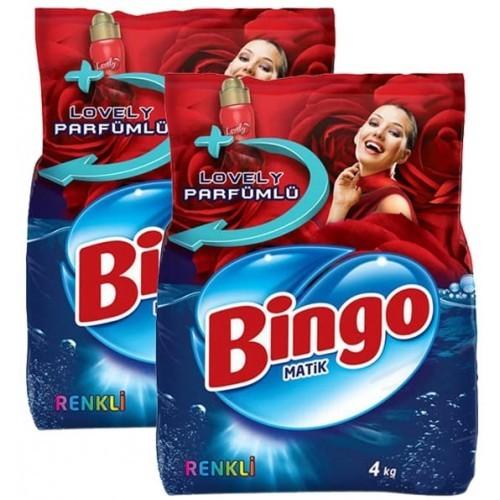 Bingo Matik Toz Çamaşır Deterjanı Renkli 4 kg x 2 Adet
