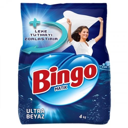 Bingo Matik Toz Çamaşır Deterjanı Ultra Beyaz 4 kg