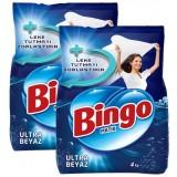 Bingo Matik Toz Çamaşır Deterjanı Ultra Beyaz 4 kg x 2 Adet