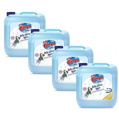 Bingo Oksijen Çamaşır Suyu Ferahlatan Hijyen 3,5 lt x 4 Adet