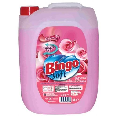Bingo Soft Yumuşatıcı Gülpembel 5 lt