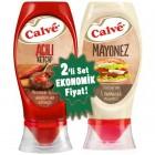 Calve Acılı Ketçap ve Mayonez Büyük Set 975 gr