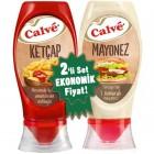 Calve Ketçap Acısız ve Mayonez Büyük Set 975 gr
