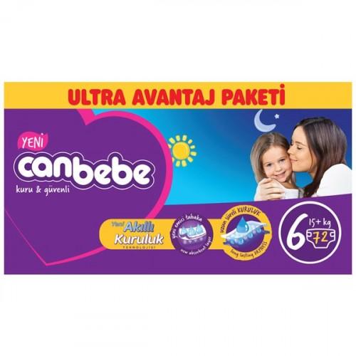 Canbebe Bebek Bezi Özel Paket Extra Large 6 Beden 72 li