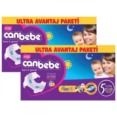 Canbebe Bebek Bezi Özel Paket Junior 5 Beden 88 li x 2 Adet
