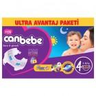 Canbebe Bebek Bezi Özel Paket Maxi 4 Beden 120 li