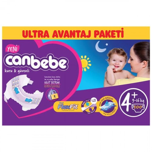 Canbebe Bebek Bezi Özel Paket Maxi Plus 4+ Beden 100 lü