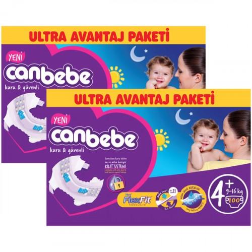 Canbebe Bebek Bezi Özel Paket Maxi Plus 4+ Beden 100 lü x 2 Adet