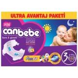 Canbebe Bebek Bezi Özel Paket Midi 3 Beden 136 lı