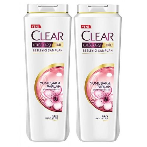 Clear Kadınlara Özel Yumuşak Parlak Kiraz Çiçeği Şampuan 500 x 2 Adet