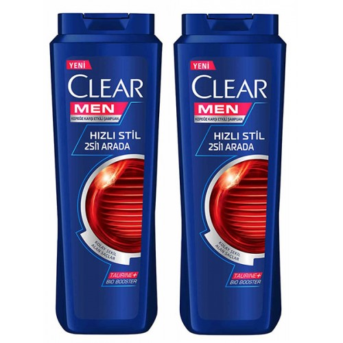 Clear Men Şampuan Hızlı Stil 2 si 1 Arada 500 ml x 2 Adet