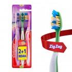 Colgate Diş Fırçası Zigzag Plus Orta 2+1