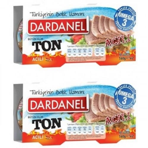 Dardanel Acılı Ton Balığı 80 gr 3 lü Paket x 2 Adet