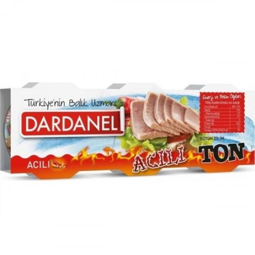 Dardanel Acılı Ton Balığı 80 gr x 3 Adet