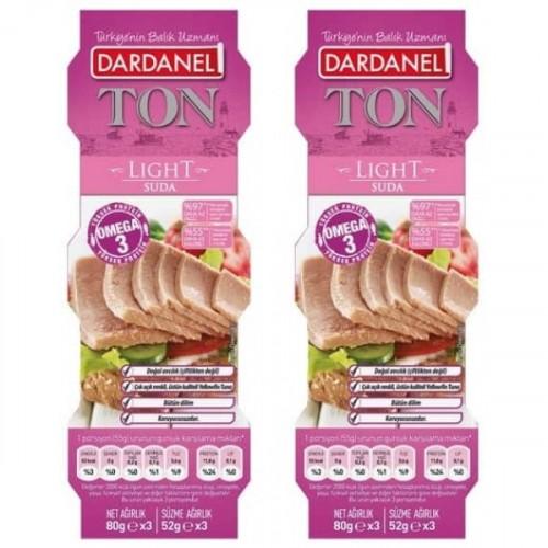 Dardanel Light Ton Balığı 80 gr 3 lü Paket x 2 Adet