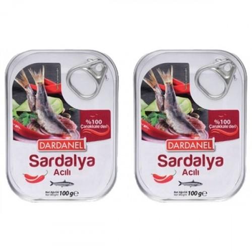 Dardanel Yağda Acılı Sardalya 105 gr x 2 Adet