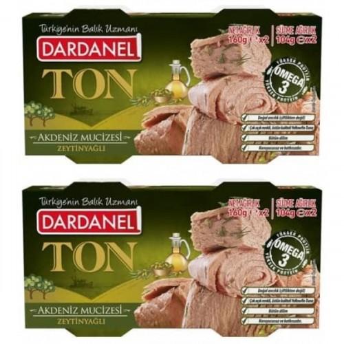Dardanel Zeytinyağlı Ton Balığı 160 Gr 2 li Paket x 2 Adet