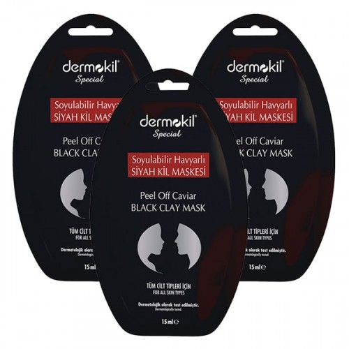 Dermokil Special Havyarlı Siyah Kil Maskesi 15 ml x 3 Adet