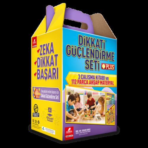 Dikkati Güçlendirme Seti Plus (Materyalli 7 Yaş - Karton Kutulu) - Osman Abalı