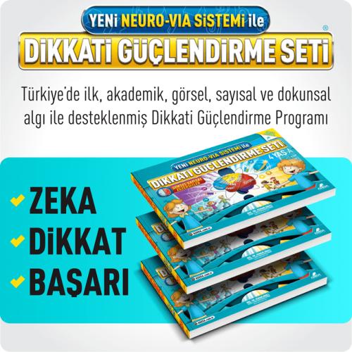 Adeda Dikkati Güçlendirme Seti - Yeni Neuro VİA Sistemi ile (4 Yaş) - Osman Abalı