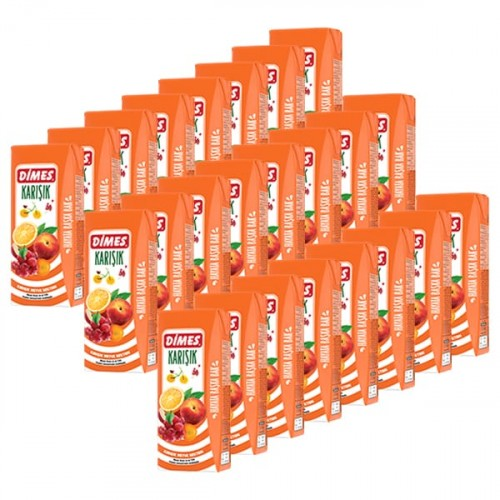 Dimes Meyve Suyu Karışık 200 ml x 24 Adet