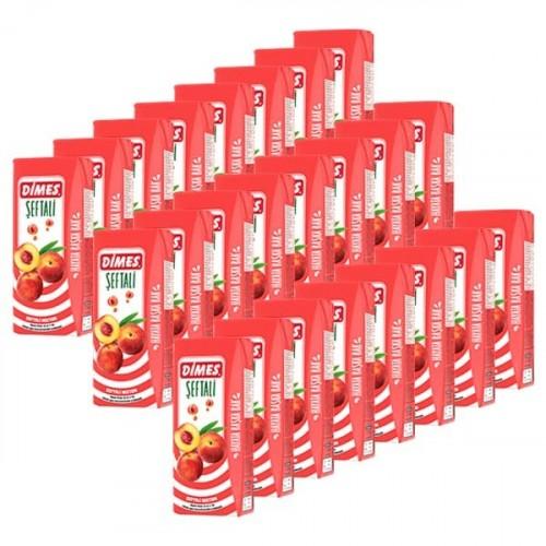Dimes Meyve Suyu Şeftali 200 ml x 24 Adet